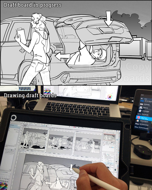 Drawing Mitsubishi Outlander commercial spot-featured
