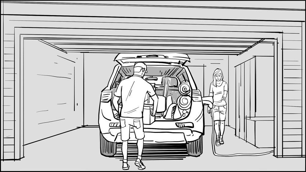 Mitsubishi Outlander PHEV Glamping-Scene-1-Board-1