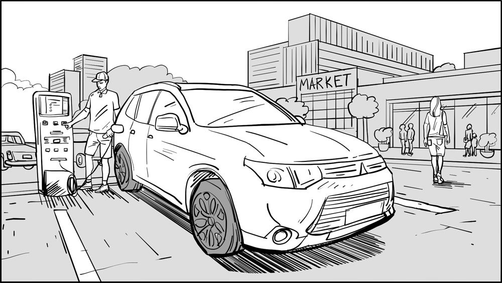 Mitsubishi Outlander PHEV Glamping-Scene-3-Board-1