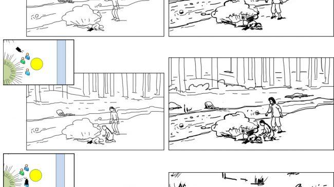 Scene schematic to final storyboards-Cut Jasmine-Scene 4B-4C