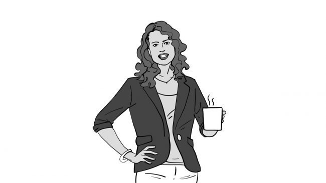 Animatic character Betty-coffee