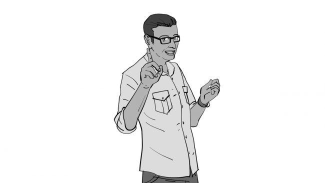 Animatic character Vivek-9