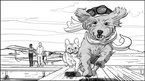 Seattle with Charlie and HC storyboards-featured