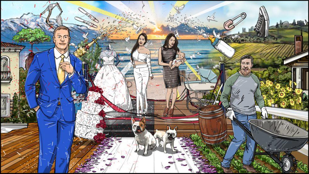 Bellas-Life Chaos portrait concept illustration