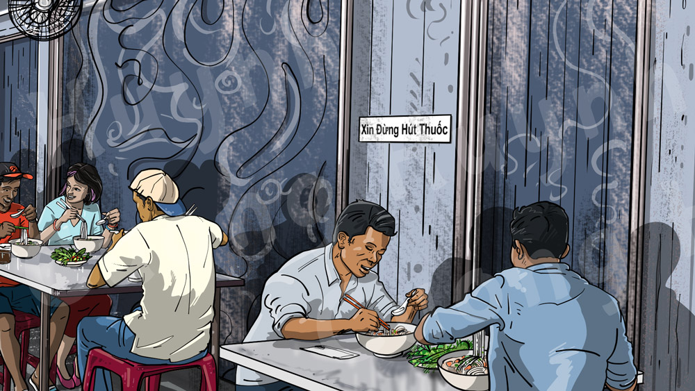 Saigon Pho Restaurant Wall Mural Design-right section