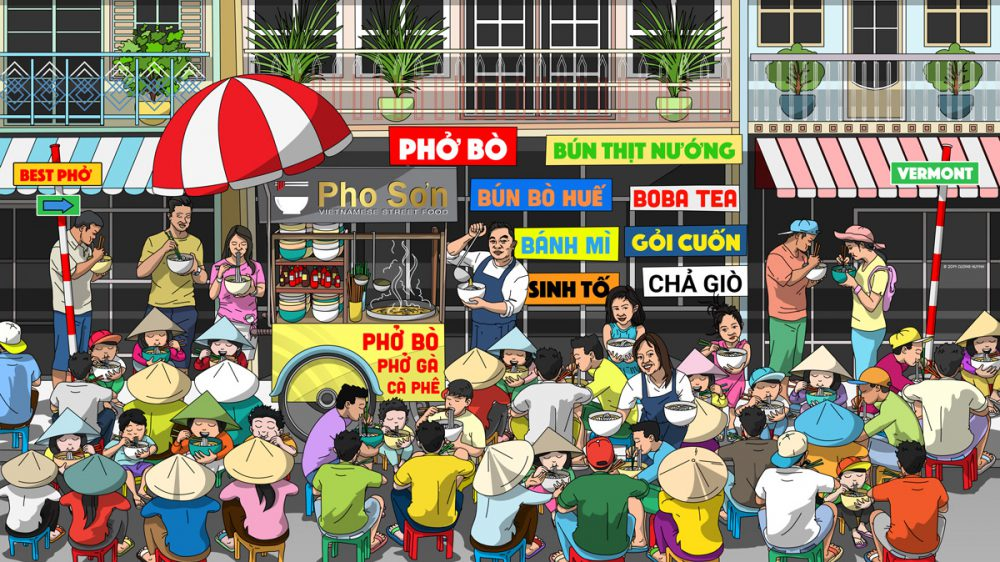 Pho Son wall mural design