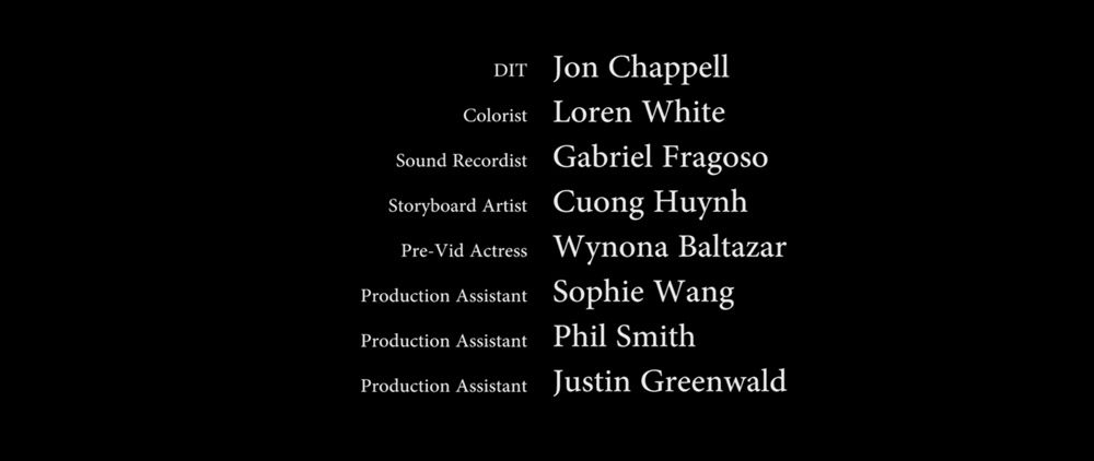 Storyboard credits-Cuong Huynh: The Girl In The Cellar (2019)