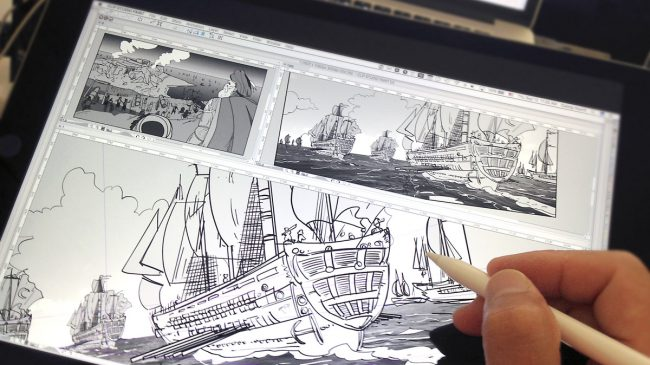 Drawing Malta 1565 storyboards