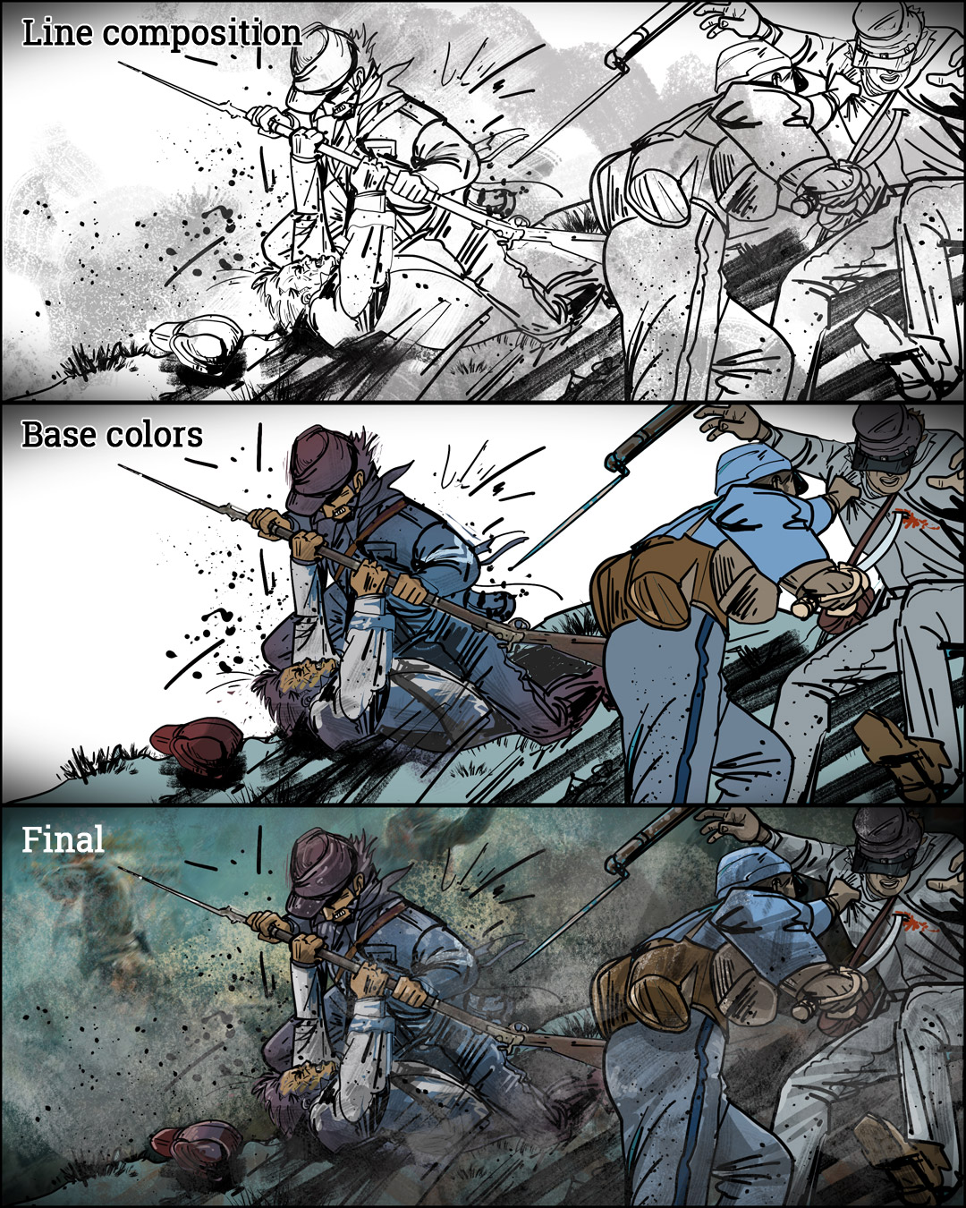 Lefty fought in Civil War sequence-5