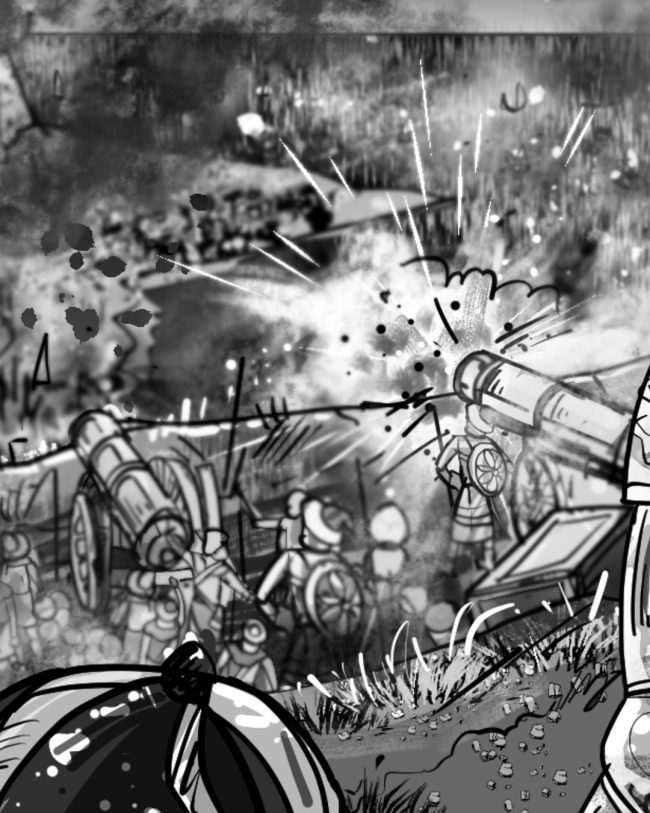 Storyboard detail 3: Opening Sequence For Strategic Game Storyboards