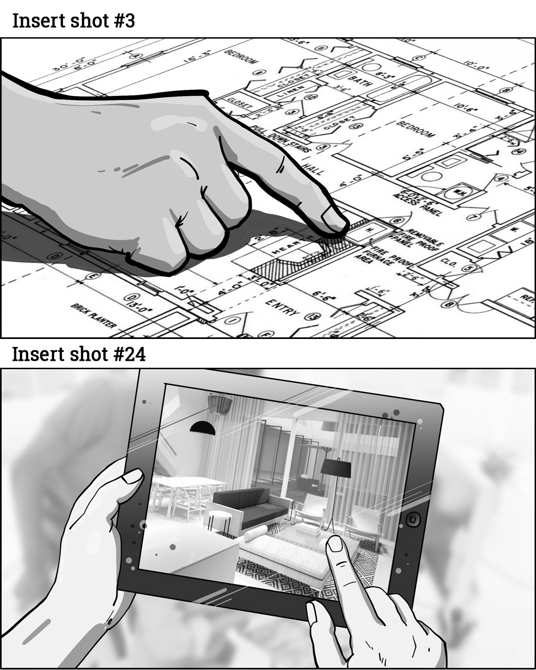 Storyboarding Insert Shots - #3 and #24
