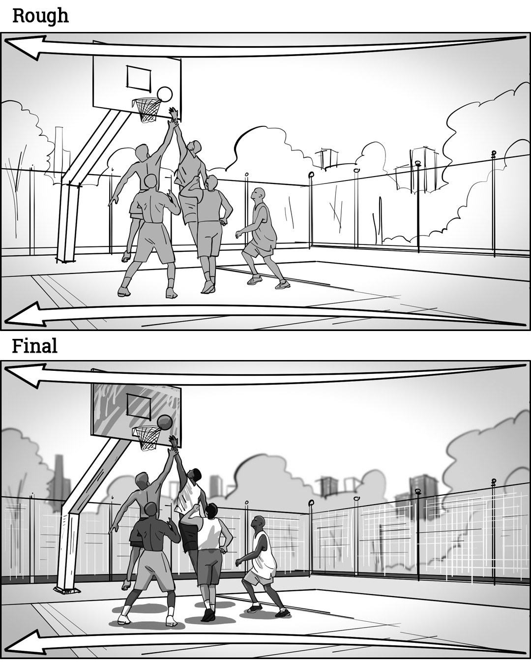 Storyboarding A Panning Shot: Brother-Mouzone-rough-final-18