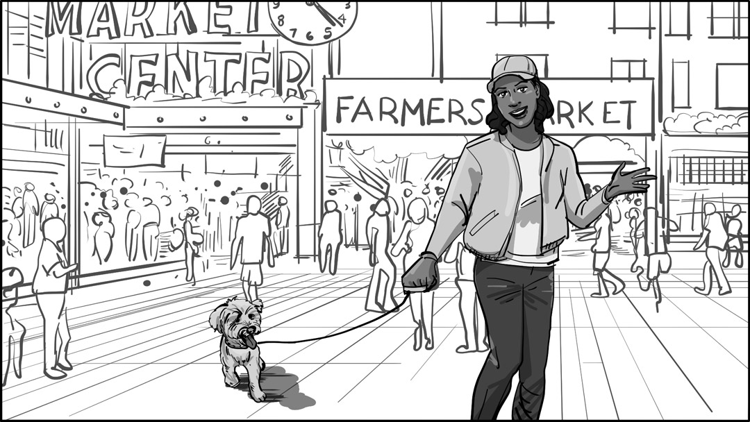 Storyboarding Charlie and HC Having Fun at Pike Place Market in Seattle 15