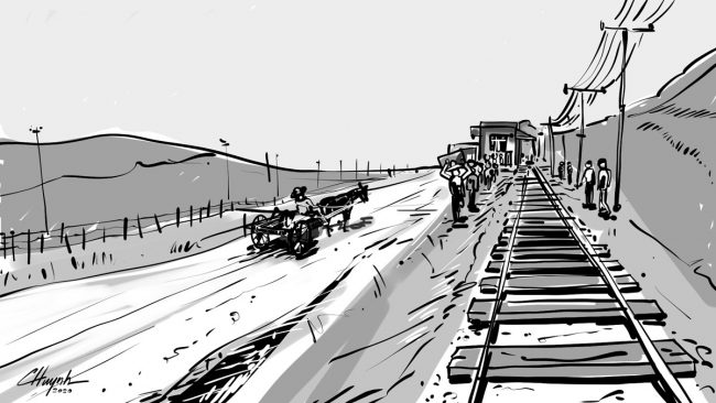 Warmup sketch1 Old Rail Station