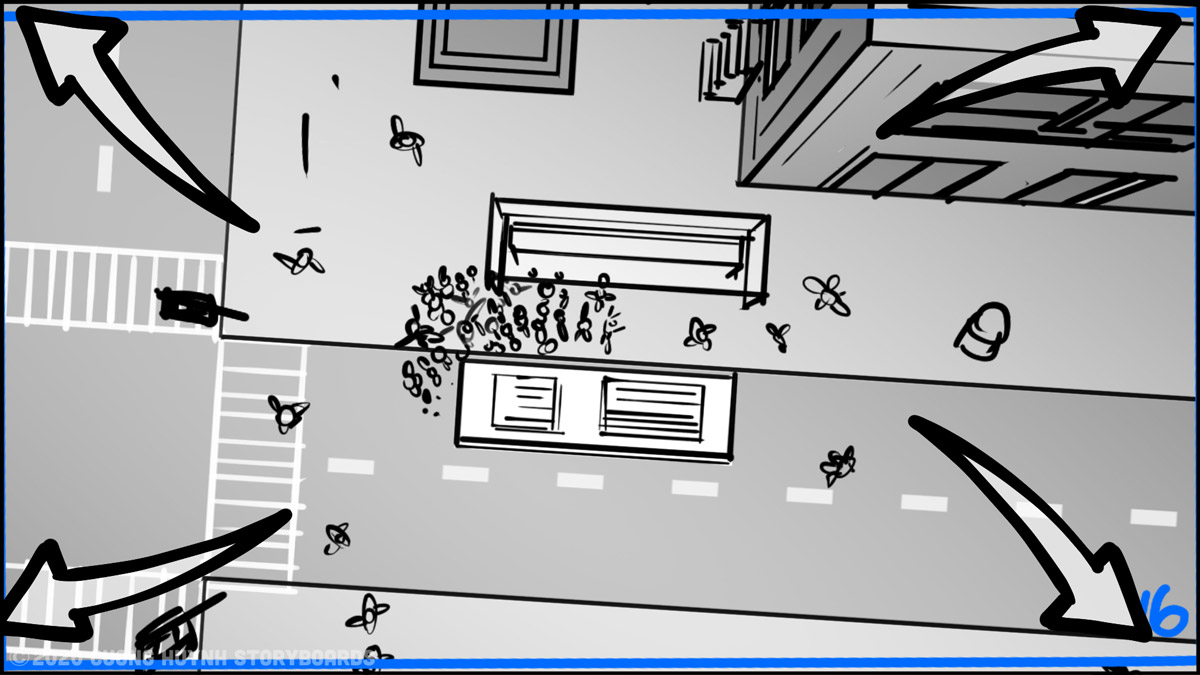 Storyboarding A Street Battle Scene - Episode 02 - Frame 16