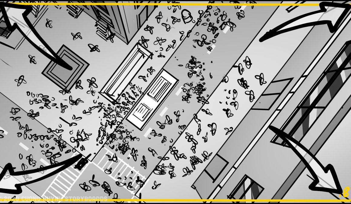 Storyboarding A Street Battle Scene - Episode 02 - Frame 18