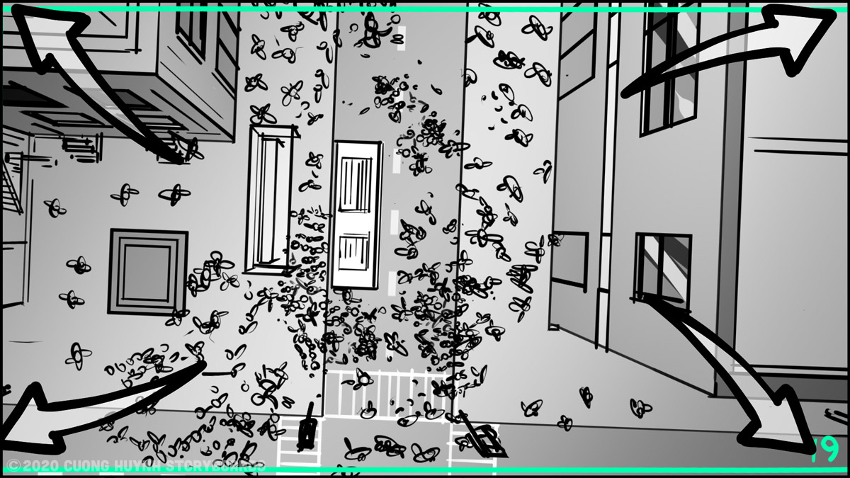 Storyboarding A Street Battle Scene - Episode 02 - Frame 19
