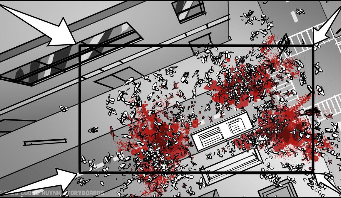 Storyboarding A Street Battle Scene - Episode 02 - Frame 23B