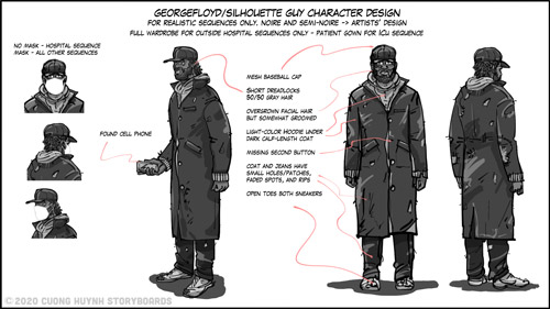 GEORGEFLOYD-SILHOUETTEGUY-character design-featured