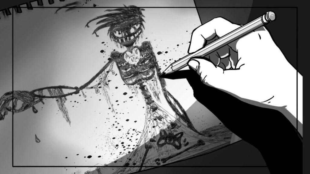 Animatic: Sam Creates Disturbing Drawing